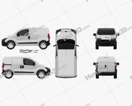 Peugeot Bipper Kastenwagen 2011 clipart