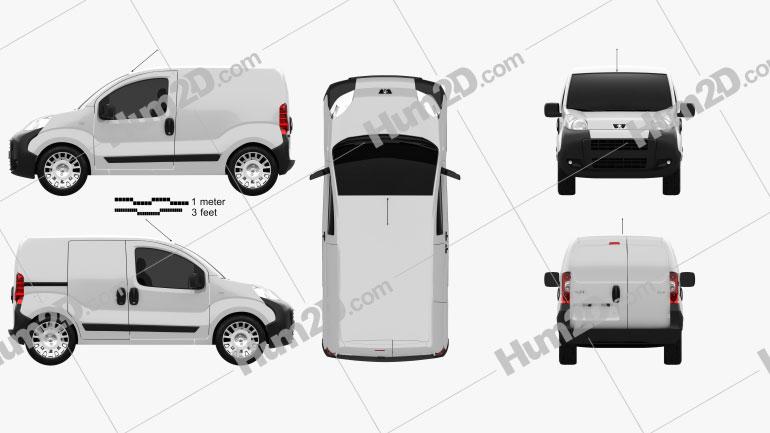 Peugeot Bipper Panel Van 2011 clipart