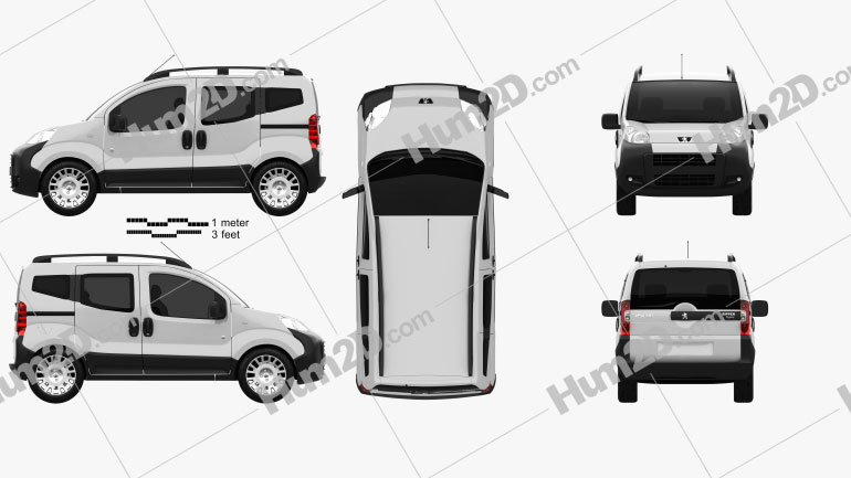 Peugeot Bipper Tepee 2011 Clipart Image