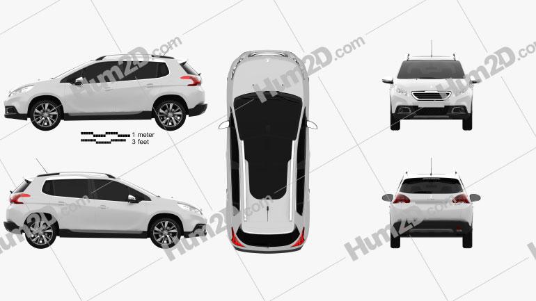 Peugeot 2008 2013 Clipart Image