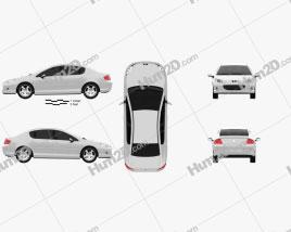 Peugeot 407 sedan 2004 car clipart