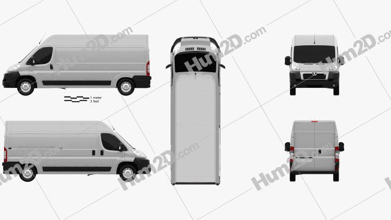Peugeot Boxer Panel Van 2007 Clipart Image