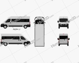 Peugeot Boxer Passenger Van 2007 clipart