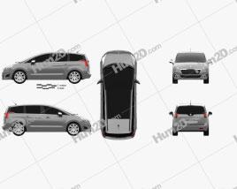 Peugeot 5008 2014 clipart