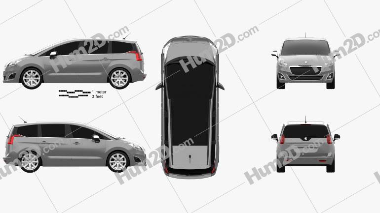 Peugeot 5008 2014 Clipart Image