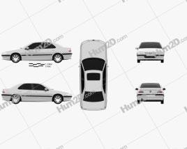 Peugeot 406 sedan 1995 car clipart