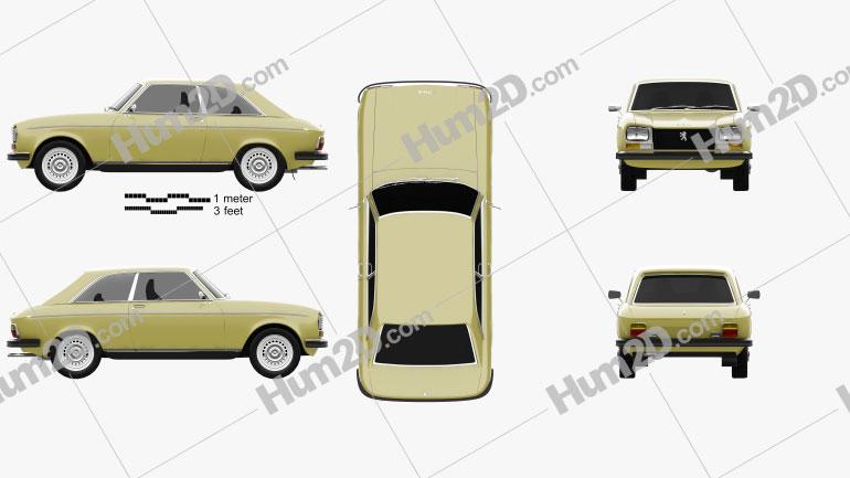 Peugeot 304 coupe 1970 car clipart