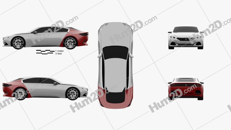 Peugeot Exalt 2014 Clipart Bild