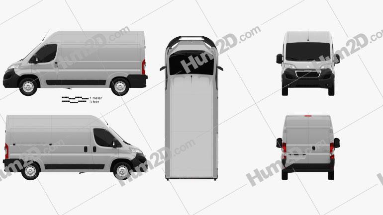 Peugeot Boxer L2H2 2014 clipart