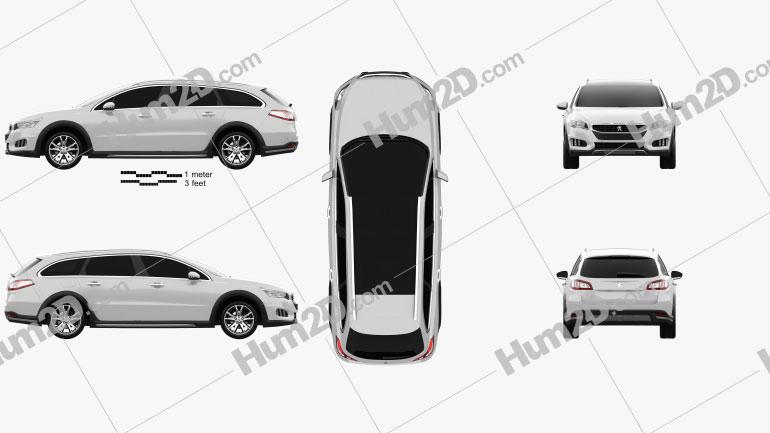 Peugeot 508 RXH 2014 Clipart Image