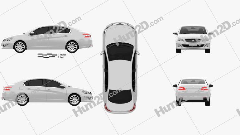 Peugeot 408 (CN) 2014 car clipart