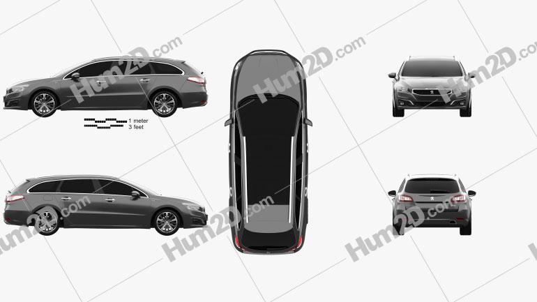Peugeot 508 SW 2014 car clipart