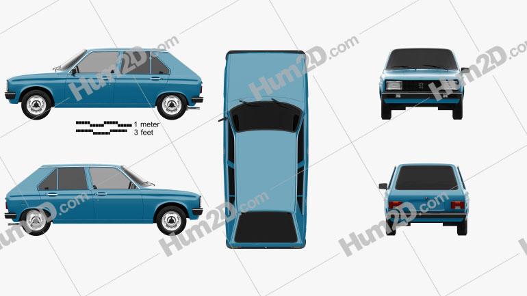 Peugeot 104 1976 Clipart Image