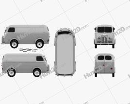 Peugeot D3A camionette 1954 clipart