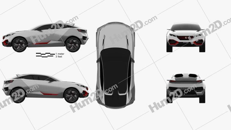 Peugeot Quartz 2015 car clipart