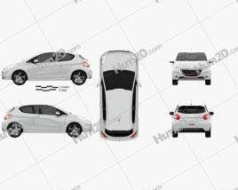 Peugeot 208 GTI 2013 car clipart