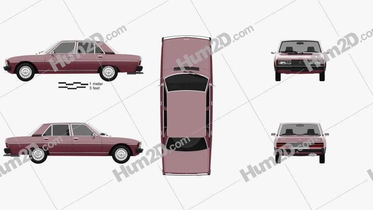 Peugeot 604 1975 car clipart