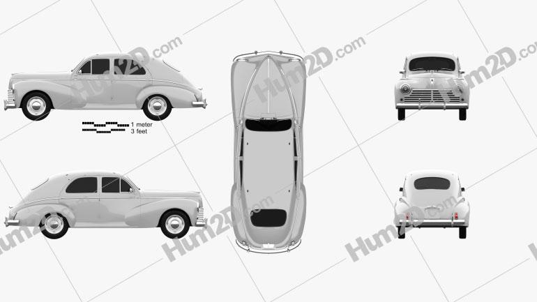 Peugeot 203 1948 Clipart Bild