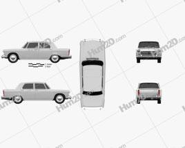 Peugeot 404 Berline 1960 car clipart