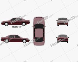 Peugeot 605 1989 car clipart