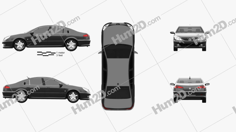 Peugeot 607 2004 car clipart
