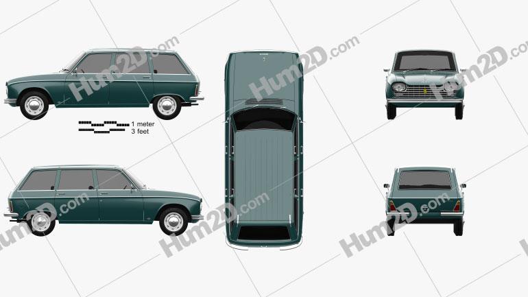 Peugeot 204 Break 1966 Clipart Bild