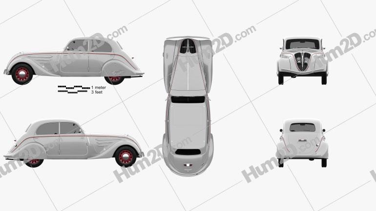 Peugeot 402 Legere 1935 car clipart
