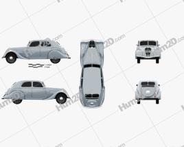 Peugeot 302 1936 car clipart