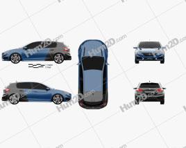 Peugeot 308 R Hybrid 2015 car clipart