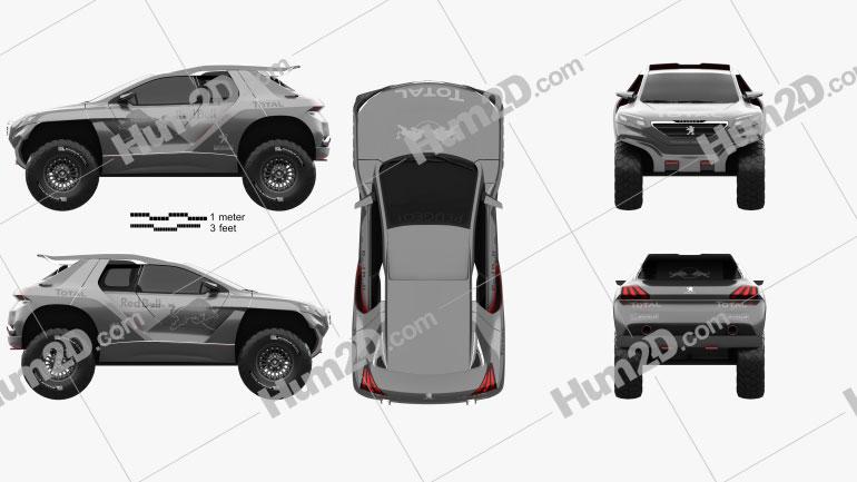 Peugeot 2008 DKR 2014 Clipart Image