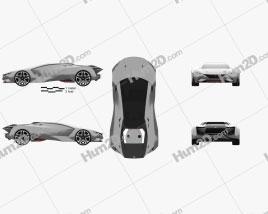 Peugeot Vision Gran Turismo 2015 car clipart