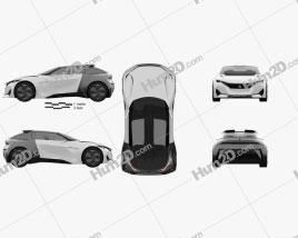 Peugeot Fractal 2015 car clipart