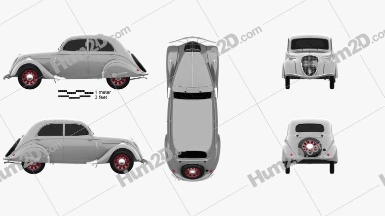 Peugeot 202 Berline 1938 car clipart