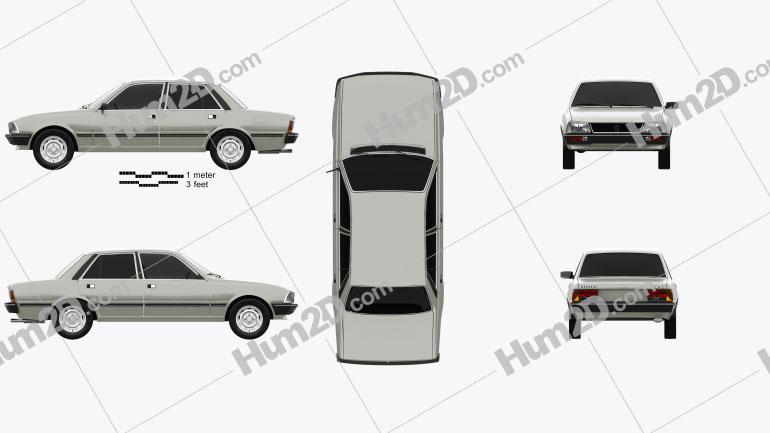 Peugeot 505 1979 Clipart Image