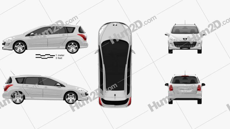Peugeot 308 SW 2008 car clipart