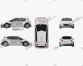Peugeot 208 R5 2013 car clipart