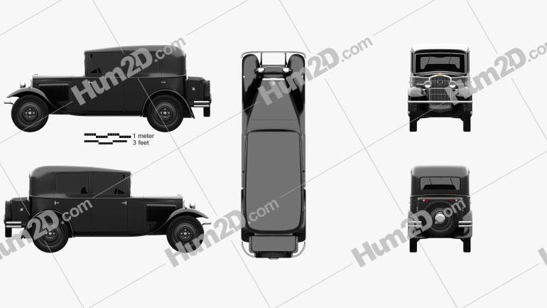 Peugeot 201 1929 car clipart
