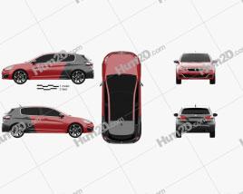 Peugeot 308 GTi 2015 car clipart