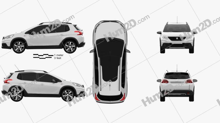 Peugeot 2008 GT Line 2017 car clipart