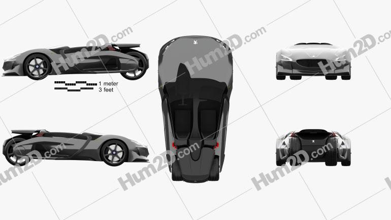 Peugeot EX1 2010 car clipart