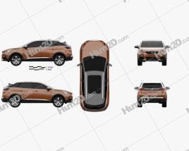 Peugeot 3008 2016 Clipart