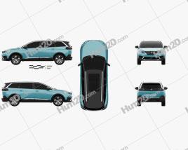 Peugeot 5008 2017 clipart