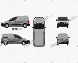 Peugeot Partner Van 2015 clipart