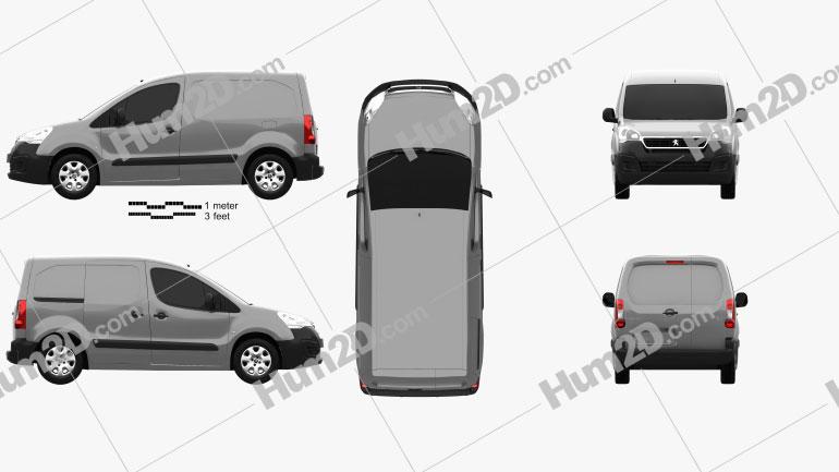 Peugeot Partner Van 2015 Clipart Image