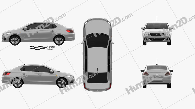 Peugeot 301 2017 car clipart