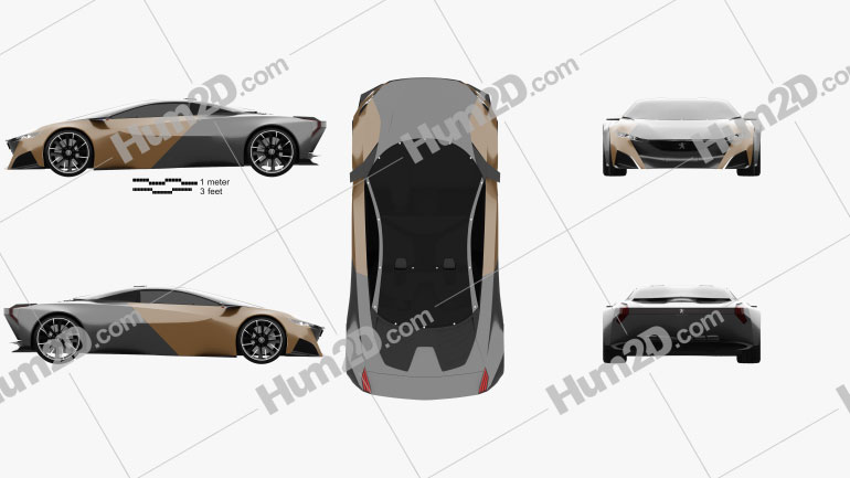 Peugeot Onyx 2012 Clipart Image