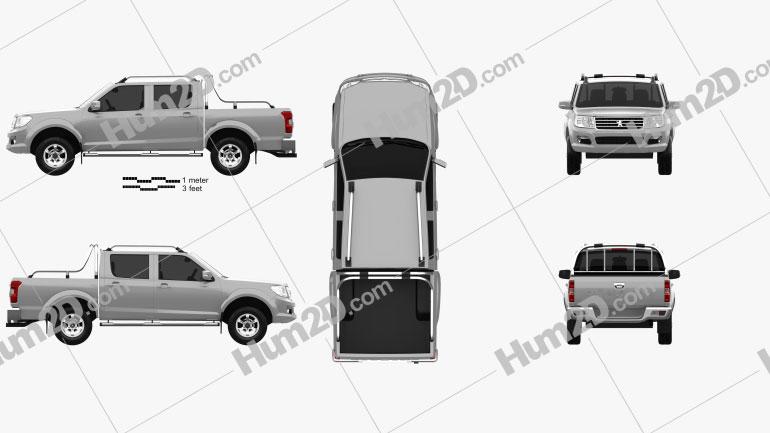 Peugeot Pick Up 4×4 2017 car clipart