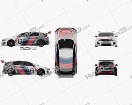 Peugeot 308 TCR 2018 car clipart