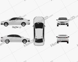 Peugeot 308 sedan 2017 car clipart