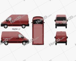 Peugeot Boxer Panel Van L2H2 2002 clipart